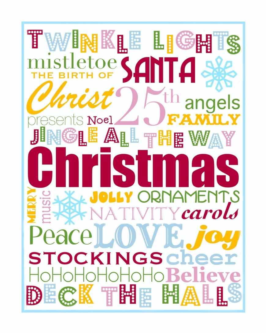 Pictures and printables dreaming of christmas for Another word for christmas decoration